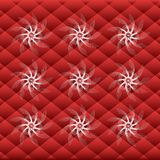Scarlet squares with white blizzard Stock Image