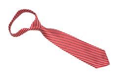 A scarlet striped necktie Stock Photo