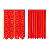 Scarlet theatre drapery vector Illustration vector Illustration. Isolated on a white background Royalty Free Stock Photography