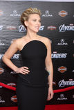 Scarlett Johansson. LOS ANGELES - APR 11:  Scarlett Johansson arrives at The Avengers Premiere at El Capitan Theater on April 11, 2012 in Los Angeles, CA Royalty Free Stock Photos