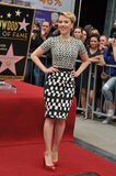 Scarlett Johansson. Actress Scarlett Johansson posing at the ceremony that honored her with a Star on the Hollywood Walk of Fame Stock Photography