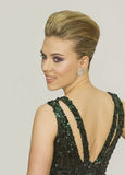 Scarlett Johansson at 64 Annual Tony Awards in 2010. Sexy Scarlett Johansson makes a fashionable entrance on the red carpet in a stunning green gown, for the Stock Photos