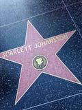 Scarlett Johansson Hollywood går av berömmelsestjärnan Arkivbild