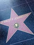 Scarlett Johansson Hollywood walk of fame star. Stock Photography