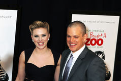 Scarlett Johansson and Matt Damon Stock Images