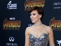 Scarlett Johansson. At the premiere of Disney and Marvel`s `Avengers: Infinity War` held at the El Capitan Theatre in Hollywood, USA on April 23, 2018 Stock Photo