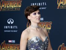 Scarlett Johansson. At the premiere of Disney and Marvel`s `Avengers: Infinity War` held at the El Capitan Theatre in Hollywood, USA on April 23, 2018 Stock Photography