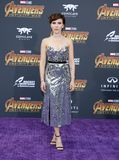 Scarlett Johansson. At the premiere of Disney and Marvel`s `Avengers: Infinity War` held at the El Capitan Theatre in Hollywood, USA on April 23, 2018 Royalty Free Stock Photos