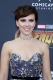 Scarlett Johansson. At the premiere of Disney and Marvel`s `Avengers: Infinity War` held at the El Capitan Theatre in Hollywood, USA on April 23, 2018 Stock Images