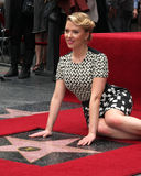 Scarlett Johansson at the Scarlett Johansson Star Walk of Fame Ceremony Stock Photography