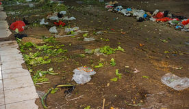 Scarp littered on the ground at Pasar Minggu traditional market photo taken in Jakarta Indonesia royalty free stock image