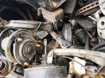 Scarp spare parts of vehicle stock images