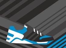 Scarpa astratta della scarpa da tennis su fondo poligonale Illustrazione di vettore Fotografia Stock Libera da Diritti