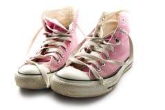 Scarpa da tennis rosa Immagine Stock Libera da Diritti
