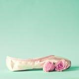 Scarpa di balletto d'annata Fotografia Stock