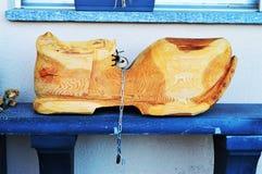 Scarpa di legno in alpi svizzere, La Tzoumaz Immagine Stock