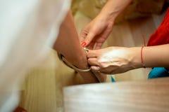 Scarpa di nozze Fotografia Stock
