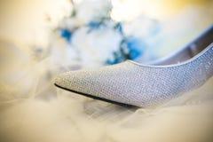 Scarpa di nozze Fotografie Stock Libere da Diritti