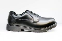 Scarpa di vestito nera degli uomini isolata Fotografia Stock Libera da Diritti
