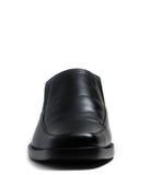 Scarpa lucida nera dell'uomo Immagine Stock Libera da Diritti