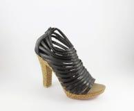 Scarpa nera di signora Immagini Stock