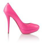 Scarpa rosa alla moda delle donne fotografia stock