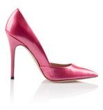 Scarpa rosa alla moda delle donne Fotografia Stock Libera da Diritti