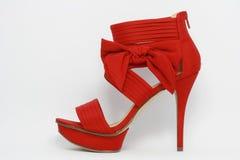 Scarpa sexy rossa del partito Fotografie Stock Libere da Diritti