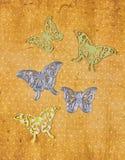 Scarpbooking die-cutter butterfly shape. Scarpbooking metal die cutter with some butterfly shapes stock image