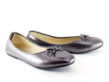 scarpe Basso tallonate per le donne Fotografia Stock Libera da Diritti