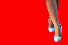 Scarpe bianche Fotografia Stock