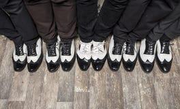 Scarpe in bianco e nero del gangster fotografia stock libera da diritti