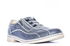 Scarpe blu delle signore Fotografia Stock