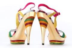 Scarpe brillanti eleganti Fotografia Stock