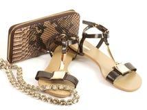 Scarpe comode di sandali Fotografia Stock