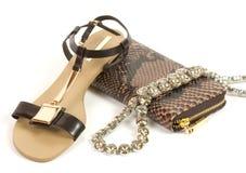 Scarpe comode di sandali Immagine Stock Libera da Diritti
