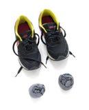 Scarpe da corsa con i calzini Fotografia Stock Libera da Diritti