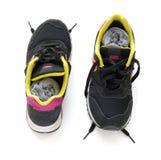 Scarpe da corsa con i calzini Fotografia Stock