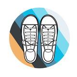 Scarpe da tennis royalty illustrazione gratis