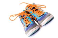 Scarpe da tennis blu Immagine Stock