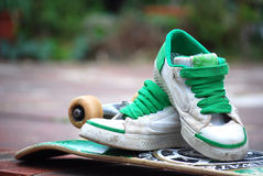 scarpe da tennis del pattino Fotografie Stock