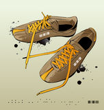 Scarpe da tennis di vettore, ginnastica-pattini Fotografia Stock Libera da Diritti