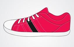 Scarpe da tennis rosa di sport Fotografia Stock Libera da Diritti