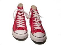 Scarpe da tennis rosse Fotografia Stock Libera da Diritti