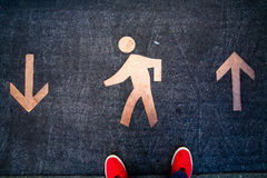 Scarpe da tennis rosse Immagine Stock Libera da Diritti