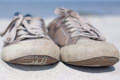 scarpe da tennis vecchie Fotografia Stock Libera da Diritti