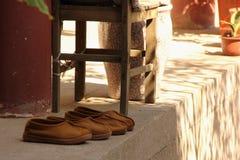 Scarpe dei monaci Fotografia Stock