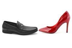 Scarpe della donna e dell'uomo Fotografia Stock Libera da Diritti