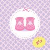 Scarpe della neonata Immagini Stock