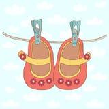 Scarpe della neonata illustrazione di stock